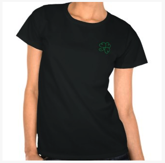 Green Swirly Shamrock T-Shirt on dogwoodandthistle.com