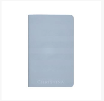 Light Steel Blue Striped Pocket Journal Notebook