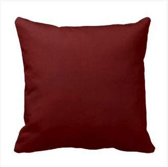Mottled Burgundy Maroon Throw Pillow