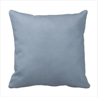 Mottled Light Steel Blue Throw Pillow Cushion on dogwoodandthistle.com