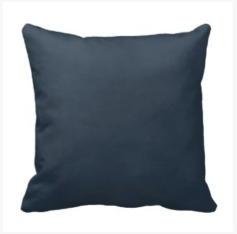 Mottled Navy Blue Throw Pillow