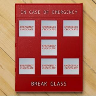 Emergency Chocolate Box at dogwoodandthistle.com