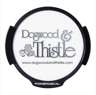 POWERDECAL Logo on dogwoodandthistle.com