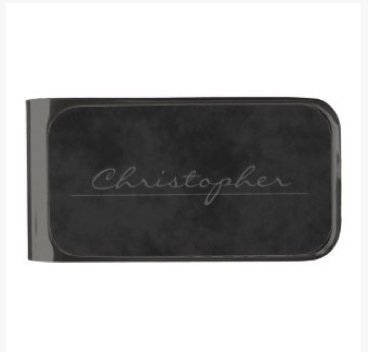 Signature Mottled Black Money Clip at dogwoodandthistle.com