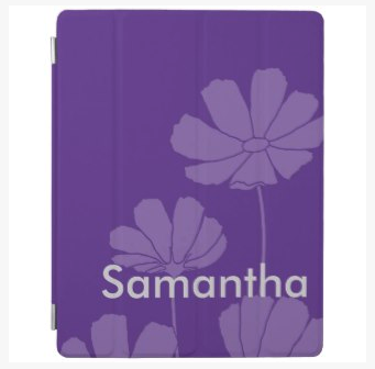 purple cosmos magnetic iPad cover