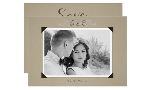 Vintage Photo Album Save The Date