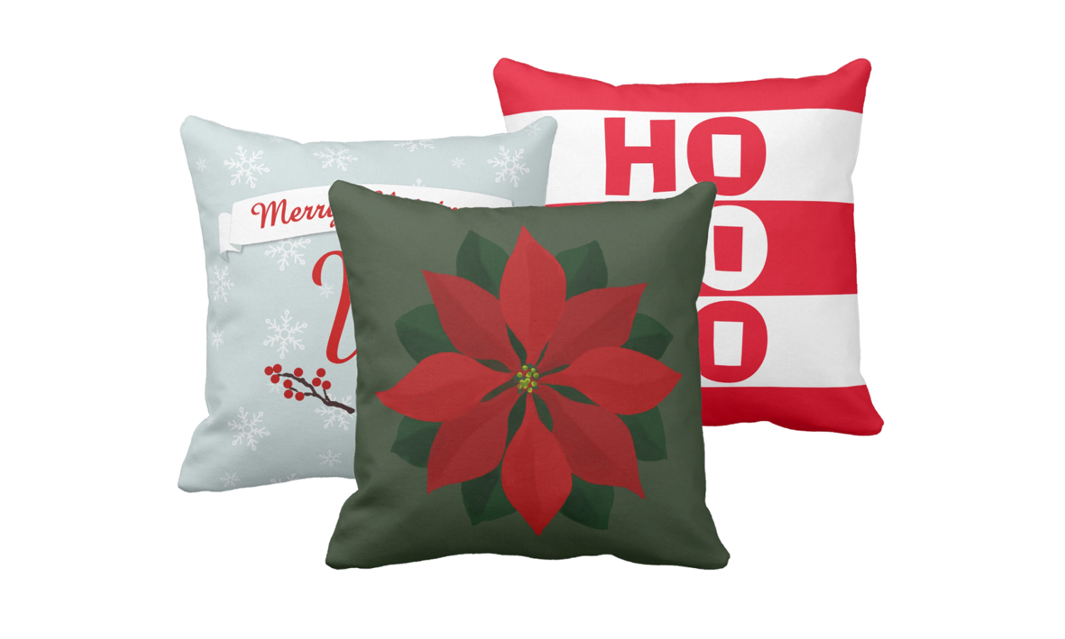 Christmas Pillows at Dogwood & Thistle on Zazzle